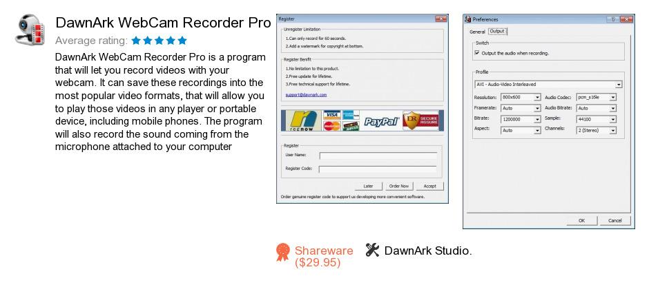 DawnArk WebCam Recorder Pro