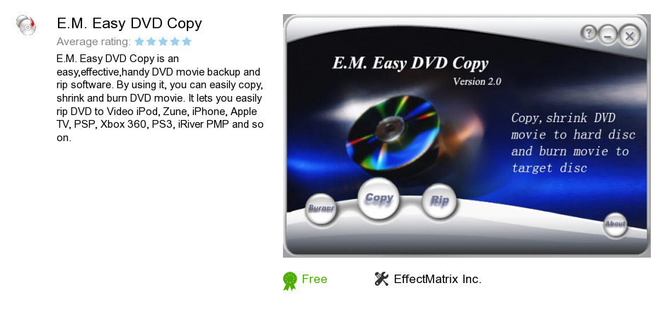 E.M. Easy DVD Copy