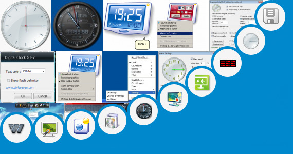 Software collection for Windows 7 Alien Clock Gadget