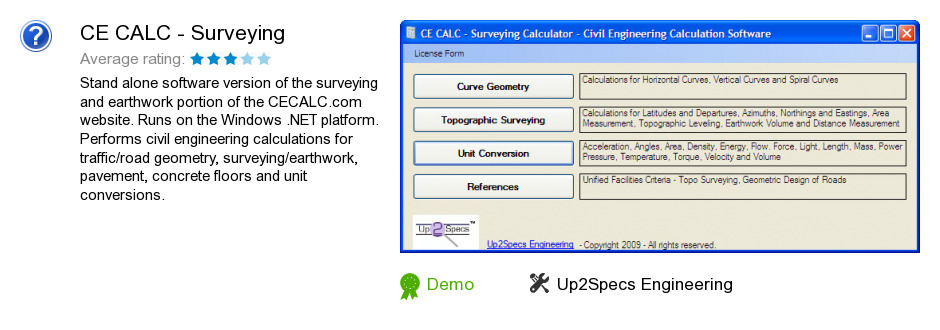 CE CALC - Surveying
