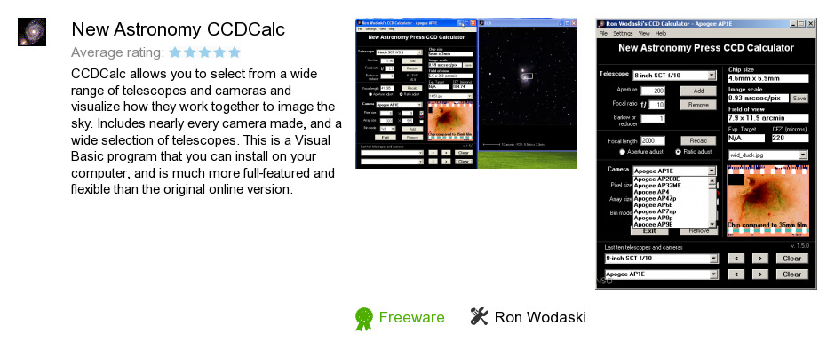 New Astronomy CCDCalc