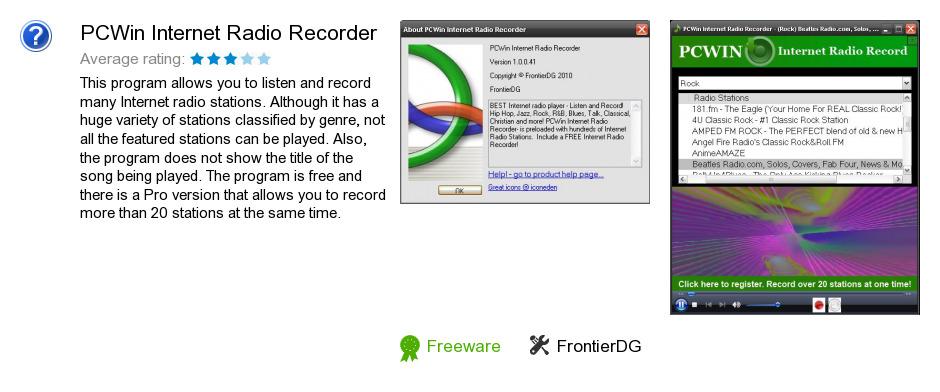PCWin Internet Radio Recorder