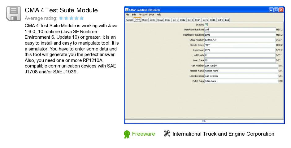CMA 4 Test Suite Module