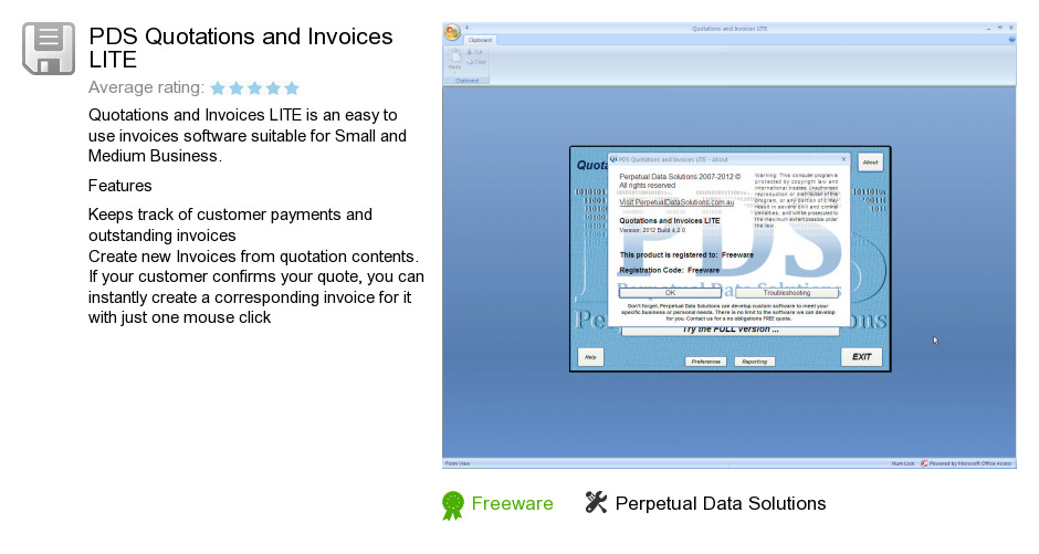PDS Quotations and Invoices LITE