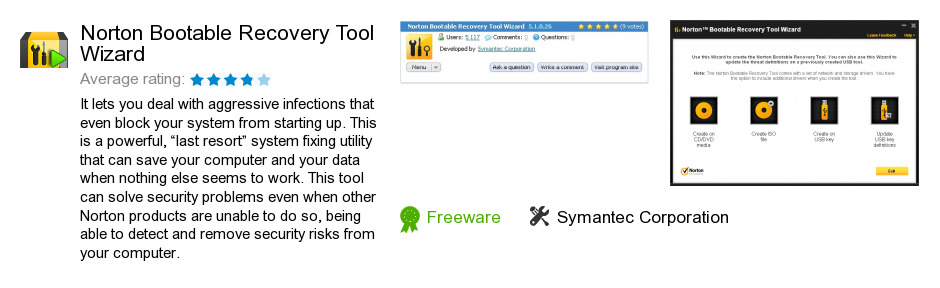 Norton Bootable Recovery Tool Wizard