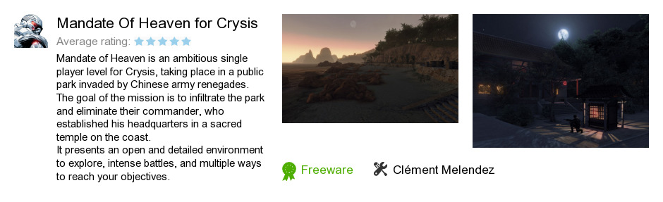Mandate Of Heaven for Crysis