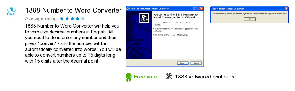 1888 Number to Word Converter