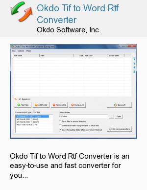 Okdo Tif to Word Rtf Converter