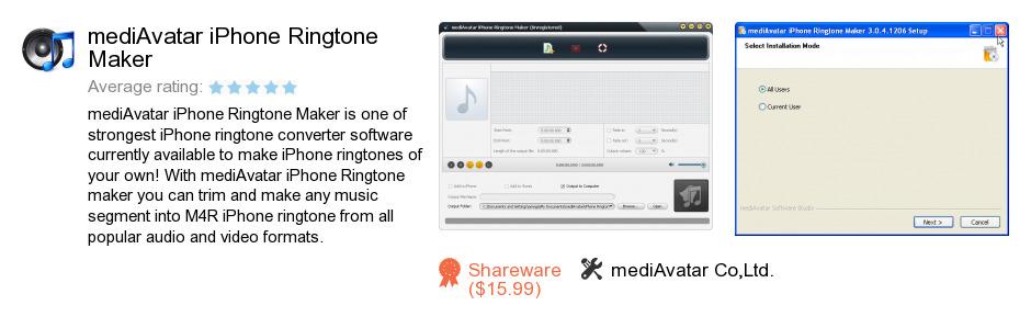 MediAvatar iPhone Ringtone Maker