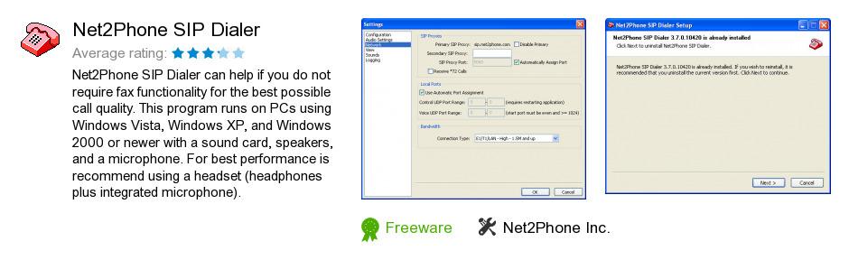 Net2Phone SIP Dialer