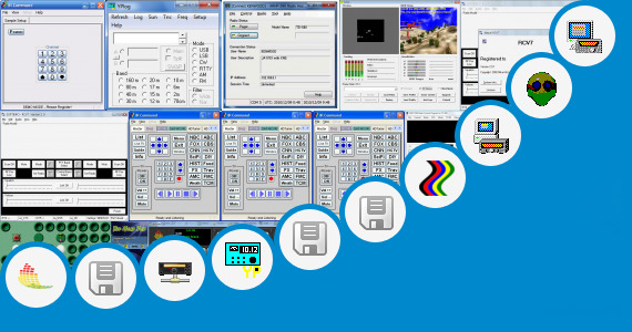 Software collection for Software Control Head Kenwood Tm V7