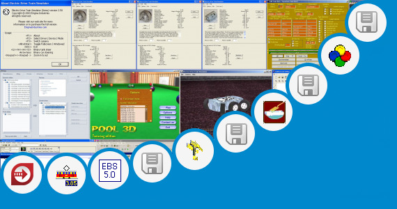 Software collection for Cnc Train Simulation System
