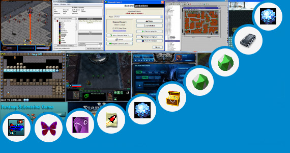 Software collection for Cave Craft Games