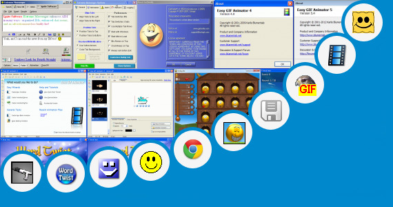 Software collection for Animated Smileys For Aim