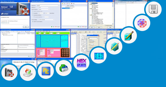 Software collection for Editor Hex Level Spy