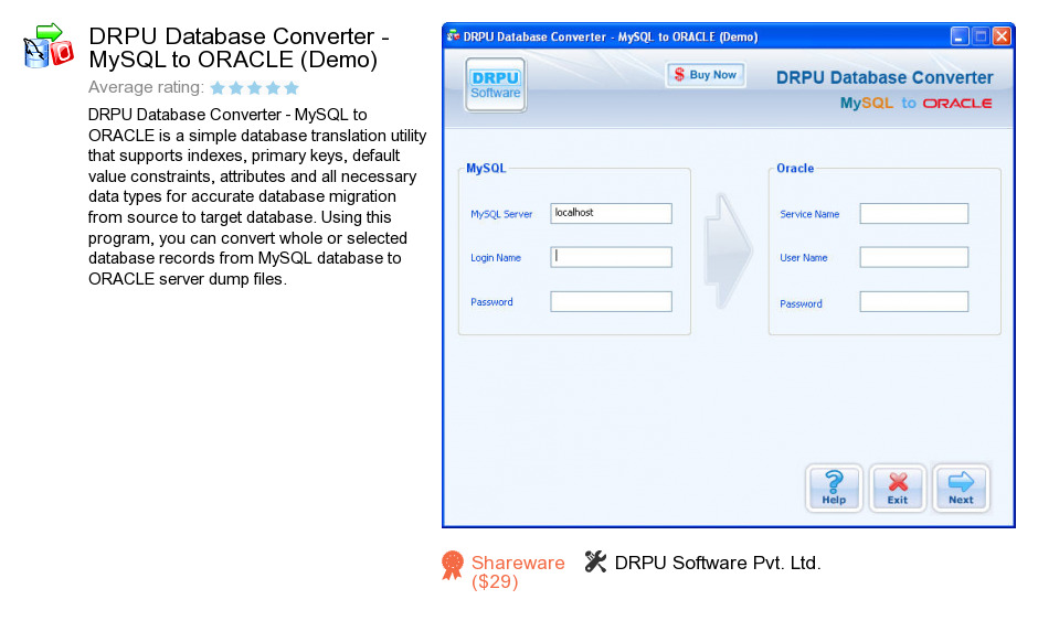 DRPU Database Converter - MySQL to ORACLE (Demo)