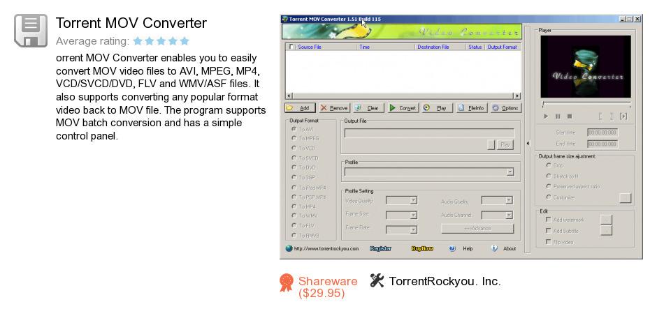 Torrent MOV Converter