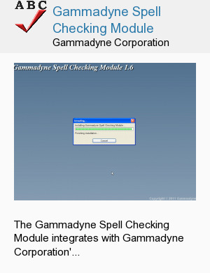 Gammadyne Spell Checking Module