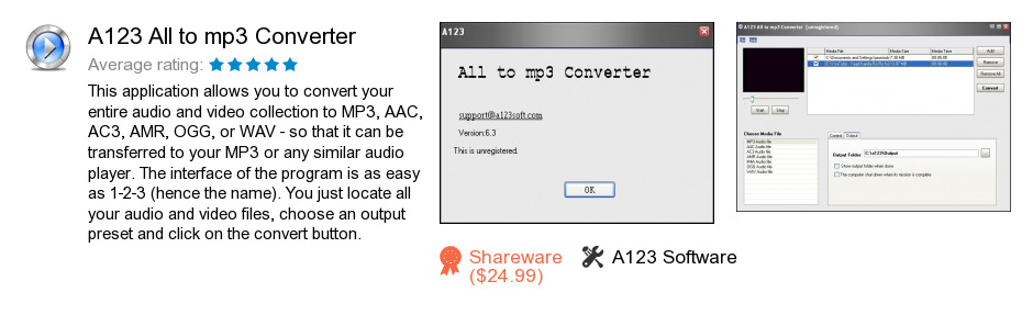 A123 All to mp3 Converter