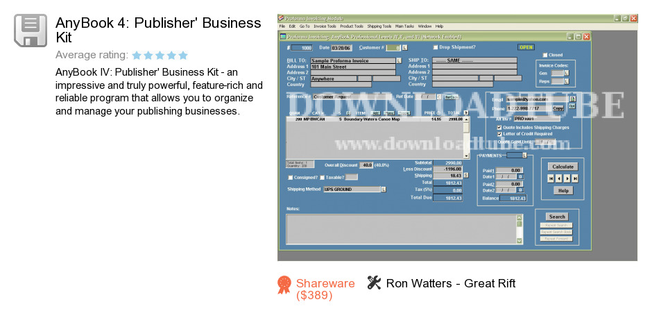 AnyBook 4: Publisher's Business Kit