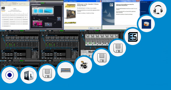 Software collection for Virtual Quad Drum