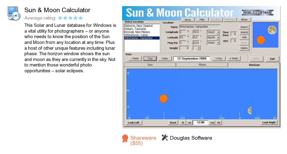 Sun & Moon Calculator