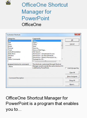 OfficeOne Shortcut Manager for PowerPoint