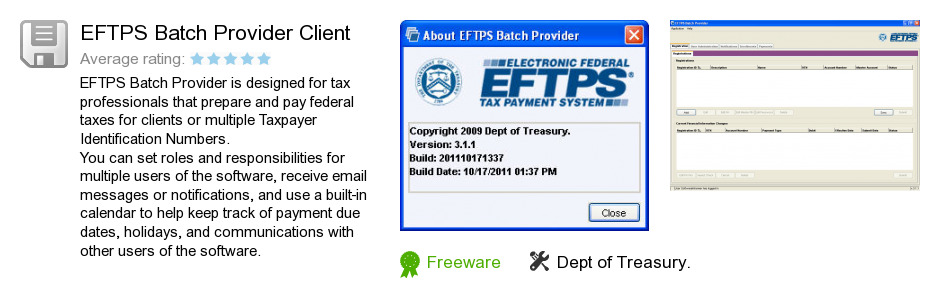 EFTPS Batch Provider Client