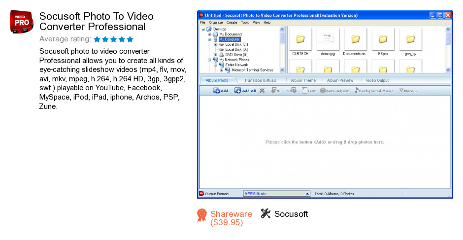 Socusoft Photo To Video Converter Professional