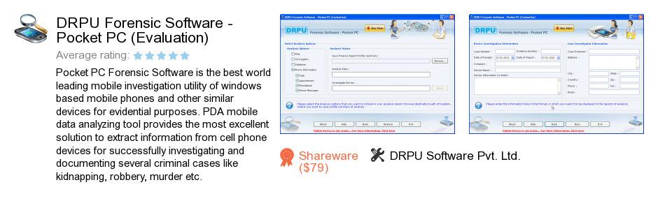DRPU Forensic Software - Pocket PC (Evaluation)