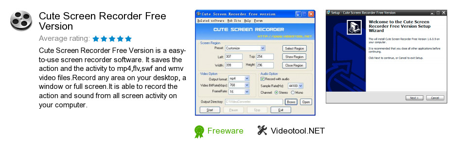Cute Screen Recorder Free Version