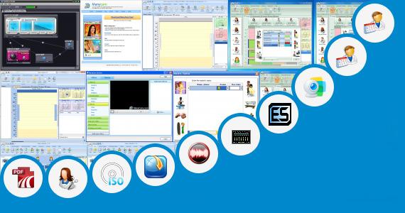 Software collection for Virtual Hair Studio 6 Salon Edition