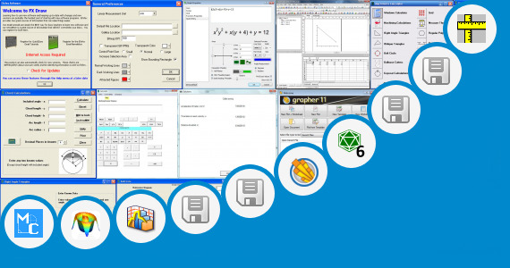 Software collection for Mathematics Charts