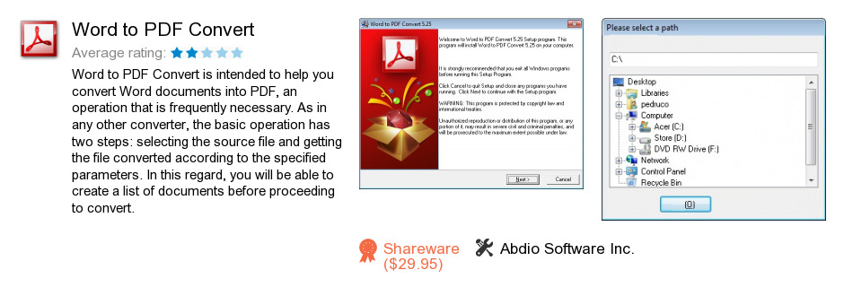 Word to PDF Convert
