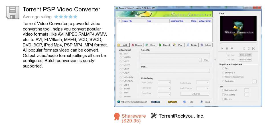 Torrent PSP Video Converter