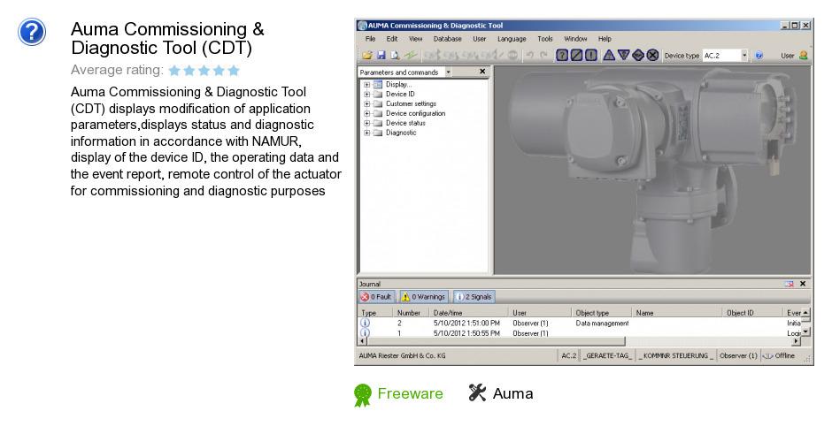 Auma Commissioning & Diagnostic Tool (CDT)