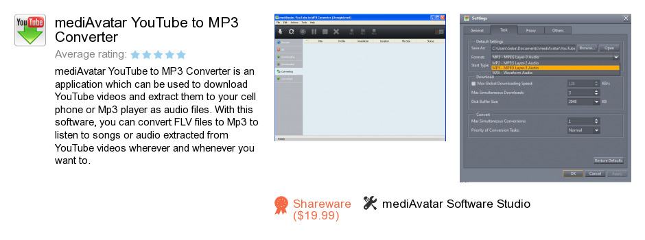 MediAvatar YouTube to MP3 Converter