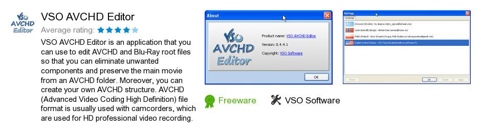 VSO AVCHD Editor