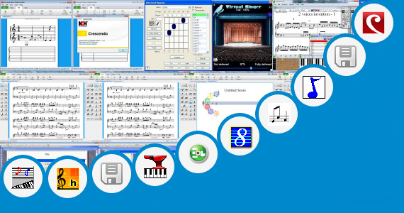 Software collection for Editable Music Staff Paper