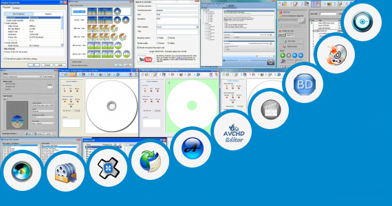 Software collection for Sony Blu Print 6