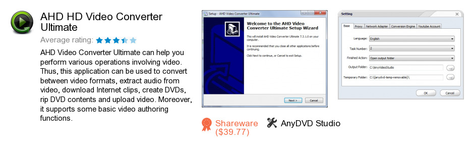 AHD HD Video Converter Ultimate