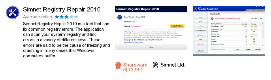 Simnet Registry Repair 2010