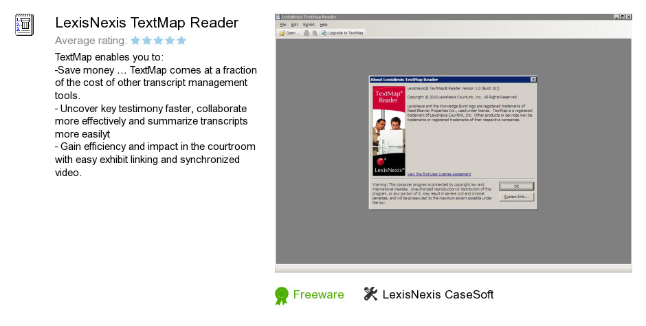 LexisNexis TextMap Reader