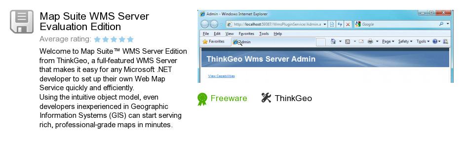 Map Suite WMS Server Evaluation Edition
