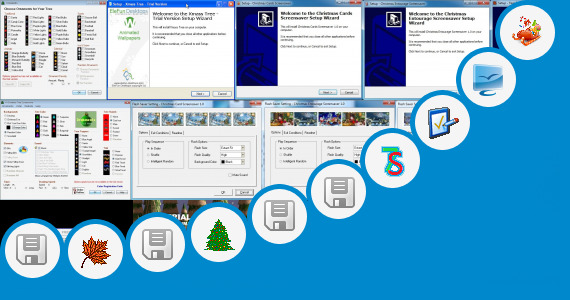 Software collection for Animate Christmas Tree Powerpoint