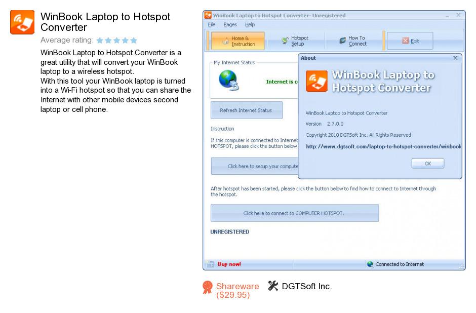 WinBook Laptop to Hotspot Converter