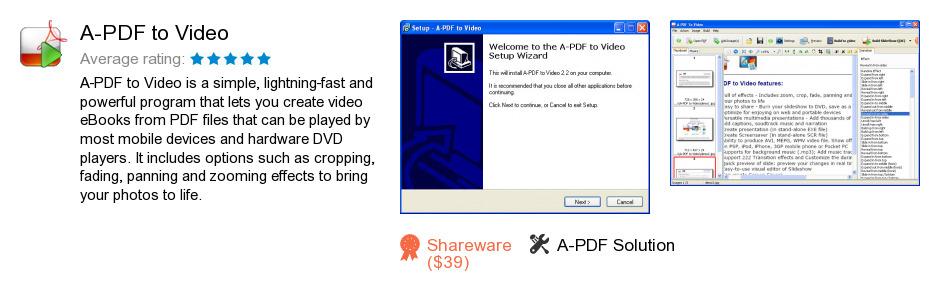 A-PDF to Video