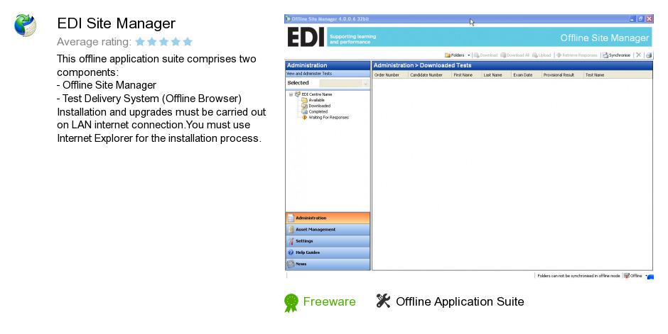 EDI Site Manager