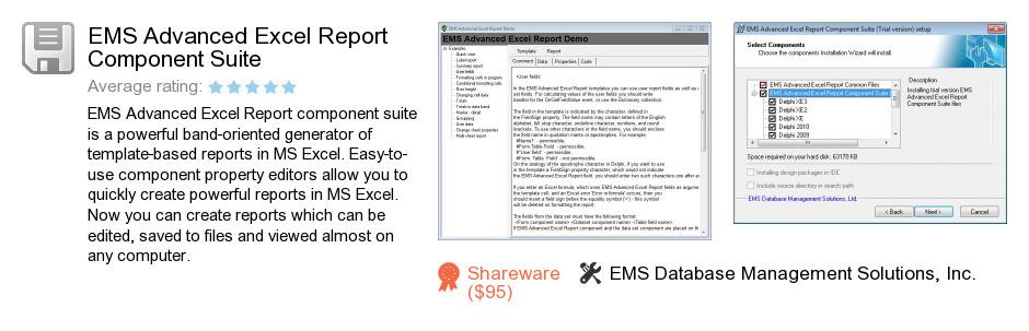 EMS Advanced Excel Report Component Suite
