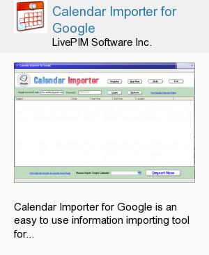 Calendar Importer for Google